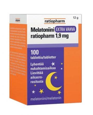 Melatoniini Ratiopharm Extra vahva 1,9mg