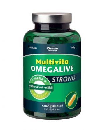 Multivita Omegalive Strong kalaöljykapseli