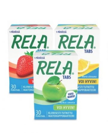 Rela Tabs maitohappobakteeri 30 kpl